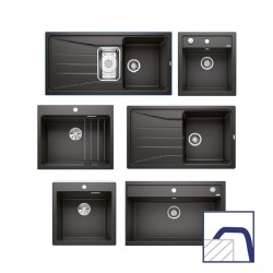 Matt black sinks, inset