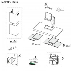 SPAREPARTS JONA 60/90