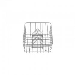 Crockery basket and stack