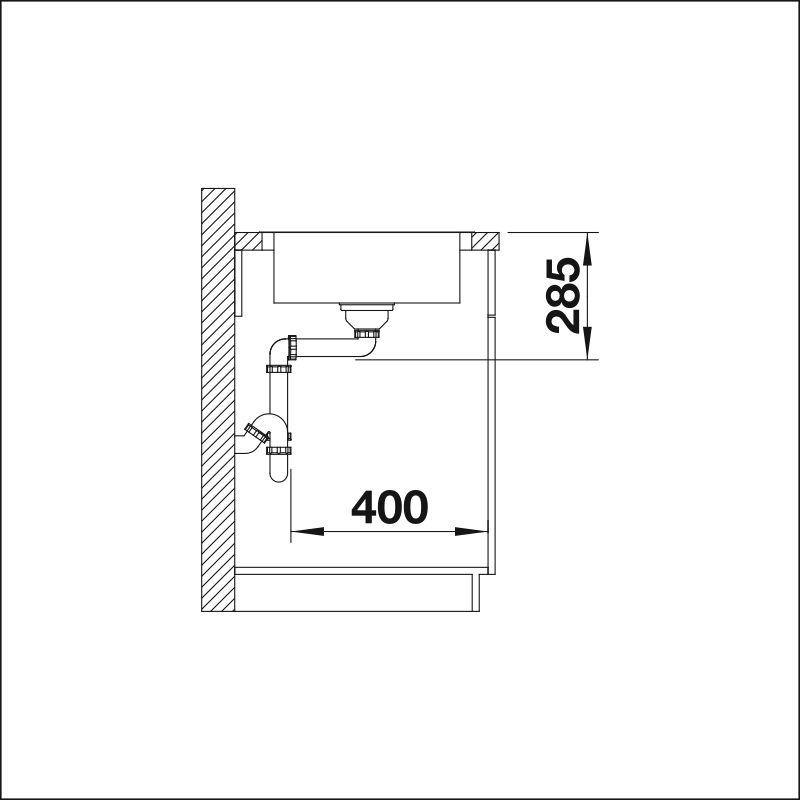 BLANCO LANTOS 45 S-IF COMPACT