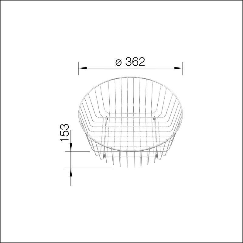 Crockery Basket (RondoSol, RondoVal, Rondo)