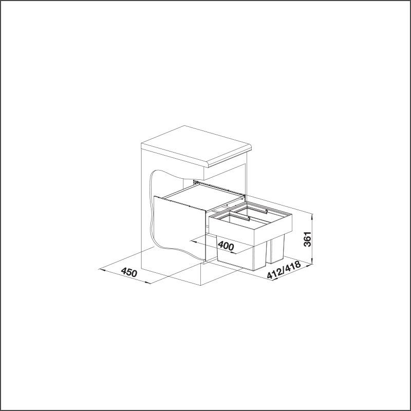 BLANCO SELECT 45/2 (2 x 16 l)