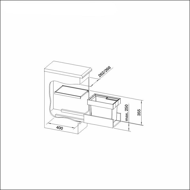 FLEXON 30/1, 19 l bin
