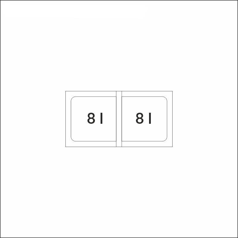 FLEXON 30/2, 2 x 8 l sangot