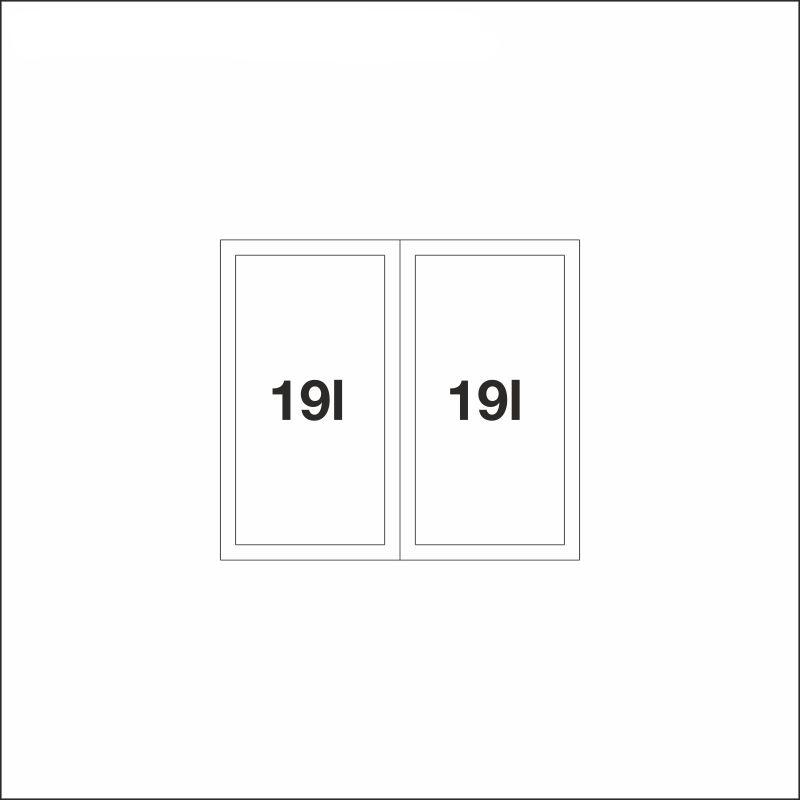 FLEXON II 50/2, 2 x 19 l bins