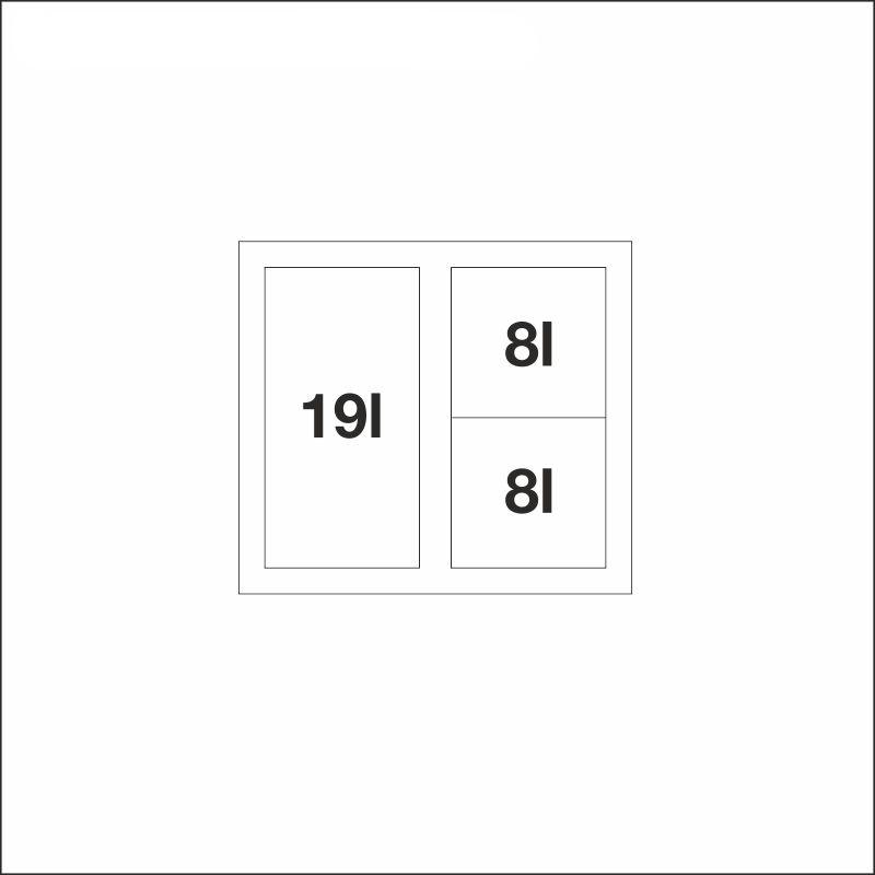 FLEXON II 50/3, 19 l + 2 x 8 l bins