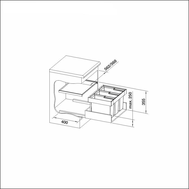 FLEXON II 60/3, 3 x 15 l bins
