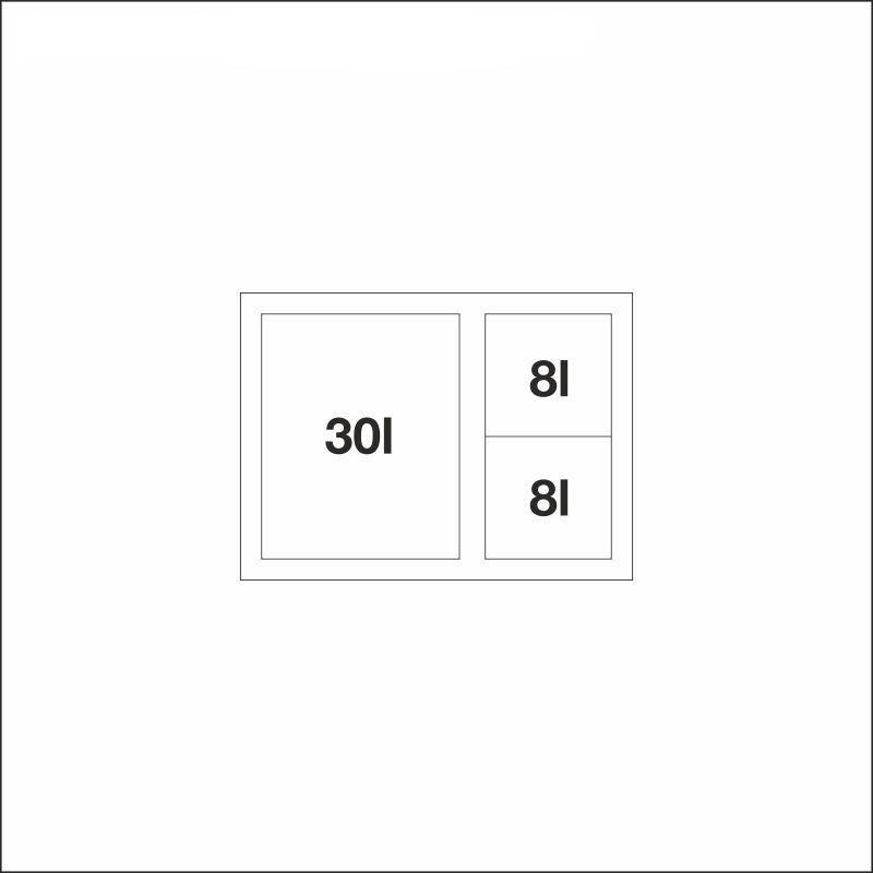 FLEXON 60/3 XL, 30 l + 2 x 8 l bins