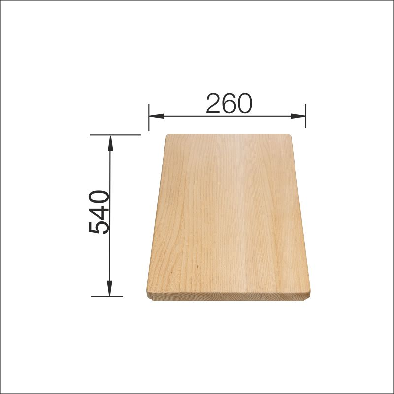 Cutting board, beech (260 x 540 mm)