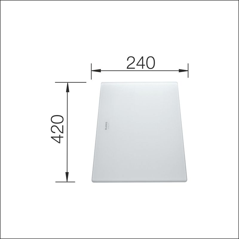 Cutting board, white glass (Claron, Flow, Zerox)
