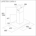 1 LAPETEK CARA-V 90, rst/lasi
