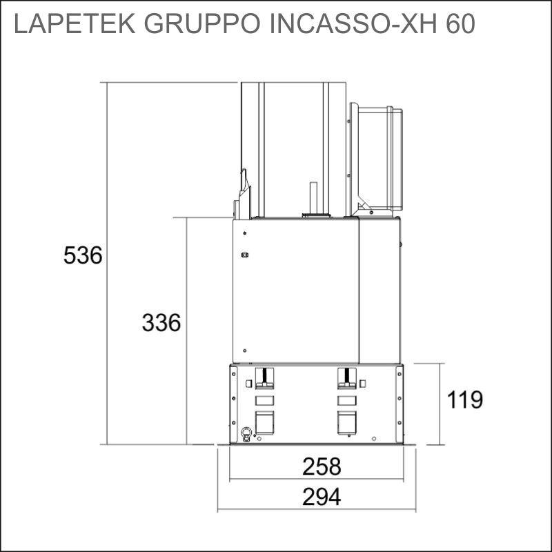 LAPETEK GRUPPO INCASSO-XH 50, s/s (X1/X2/X3/X4)