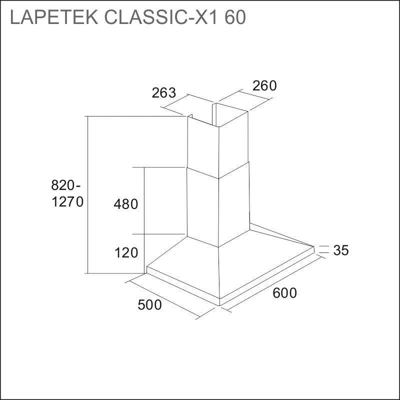 LAPETEK CLASSIC-X1 60, s/s