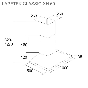 LAPETEK CLASSIC-XH 60, s/s (X1/X2/X3/X4)