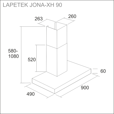 LAPETEK JONA-XH 90, rst (X1/X2/X3/X4)