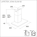 LAPETEK JONA Slim 60 black