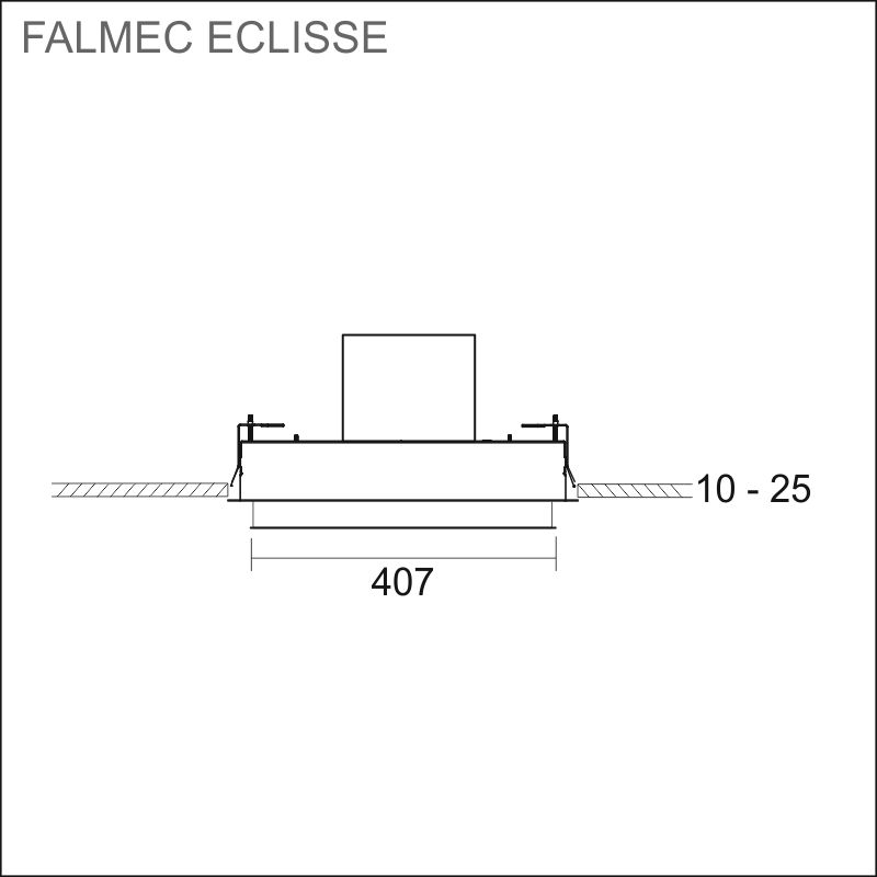 FALMEC ECLISSE 120, valkoinen lasi