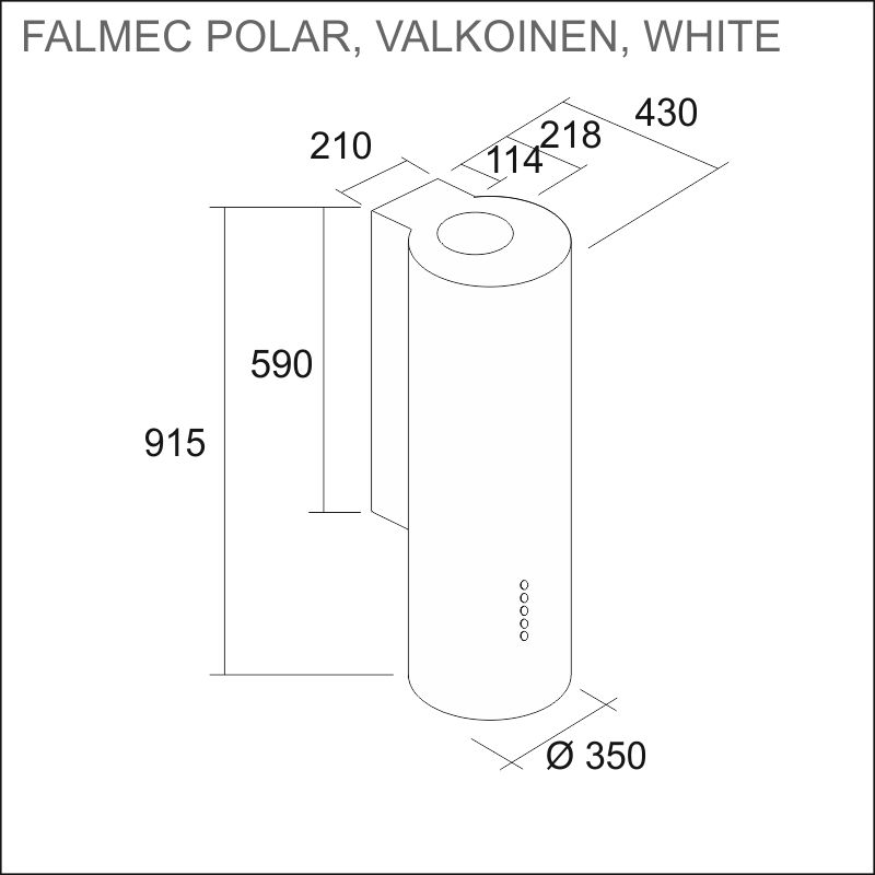 FALMEC POLAR 35, white