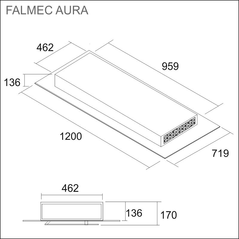 FALMEC AURA 120, white/glass