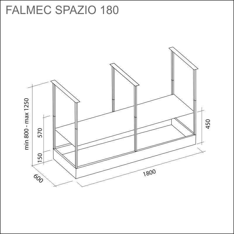 FALMEC SPAZIO-V 180, musta, saareke