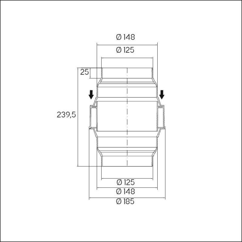 Condens water separator