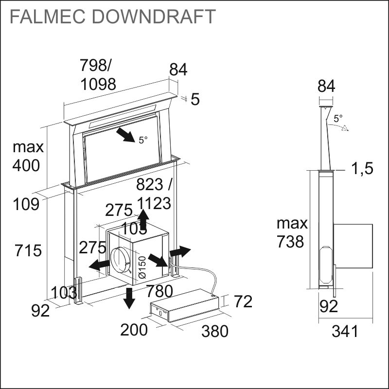 FALMEC DOWNDRAFT