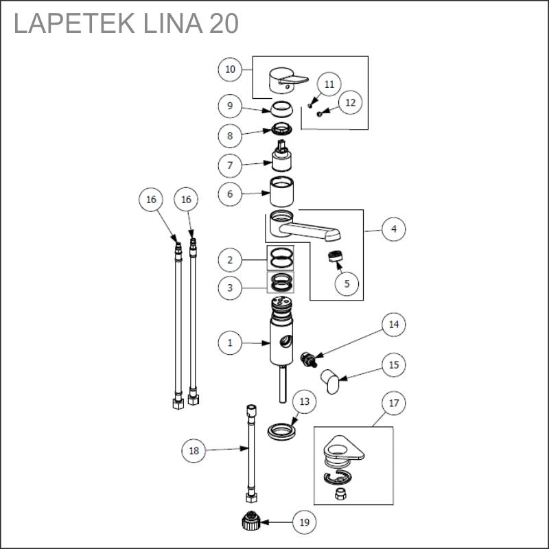 LAPETEK LINA 20-A varaosat