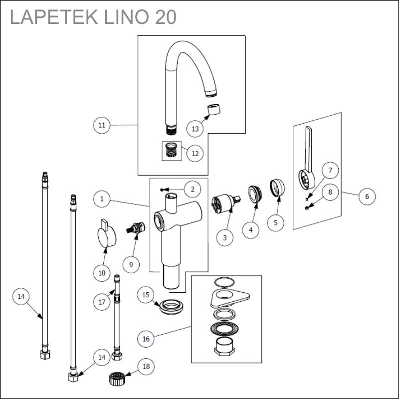 LAPETEK LINO 20-A varaosat
