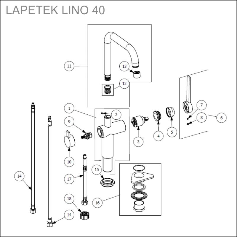 LAPETEK LINO 40-A varaosat