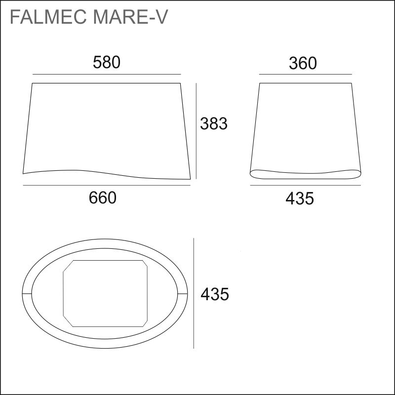 FALMEC MARE-V E.ion, 66 cm, saarekemalli
