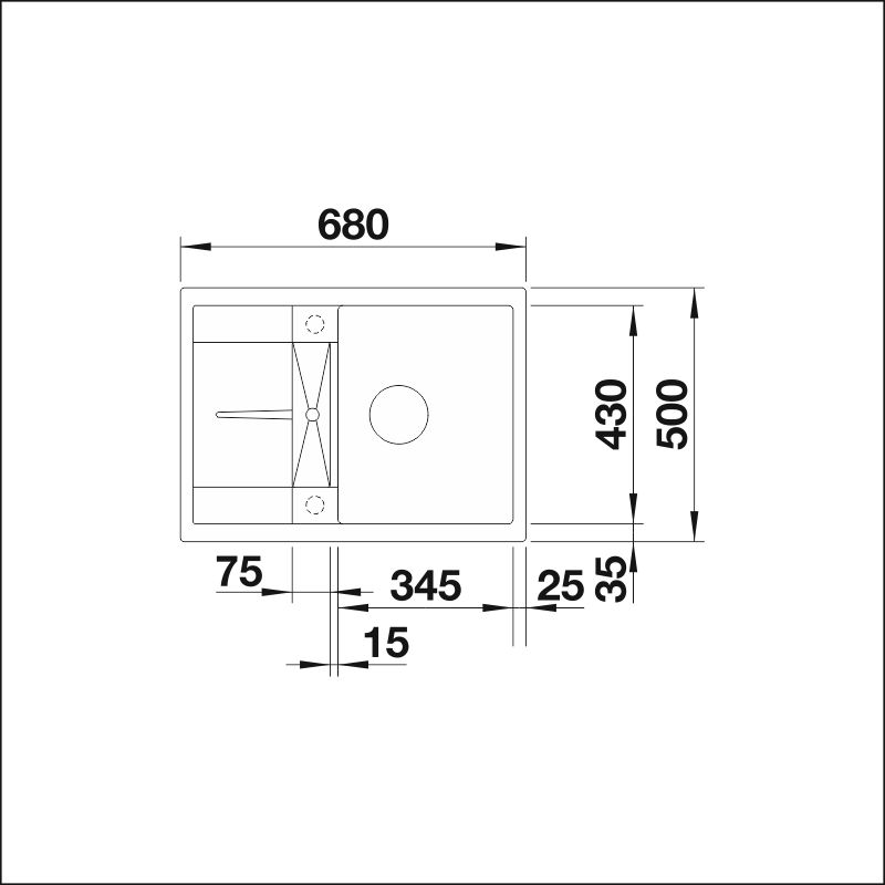 BLANCO METRA 45 S Compact