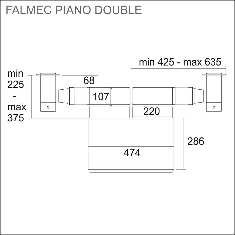FALMEC PIANO-2, 2 x 13 cm, rst