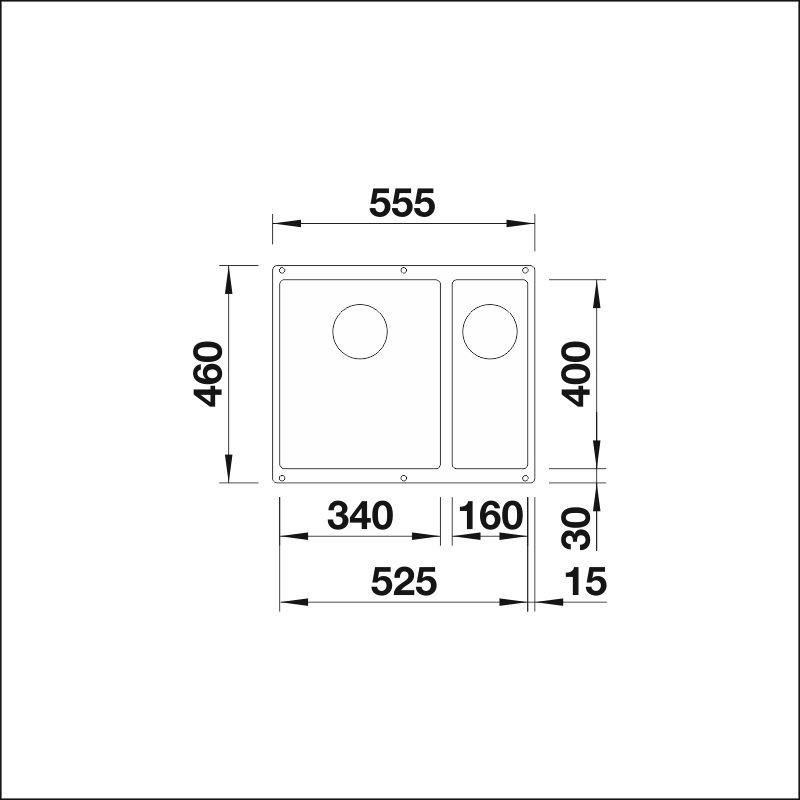 BLANCO SUBLINE 340/160-U InFino