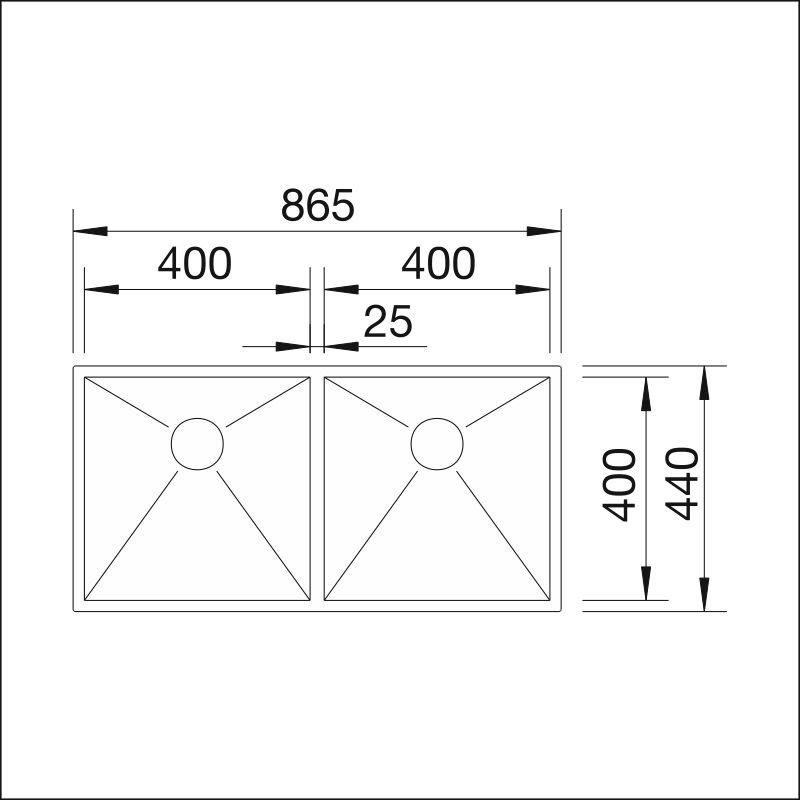 BLANCO ZEROX 400/400