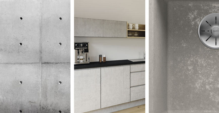 keittiö betoni